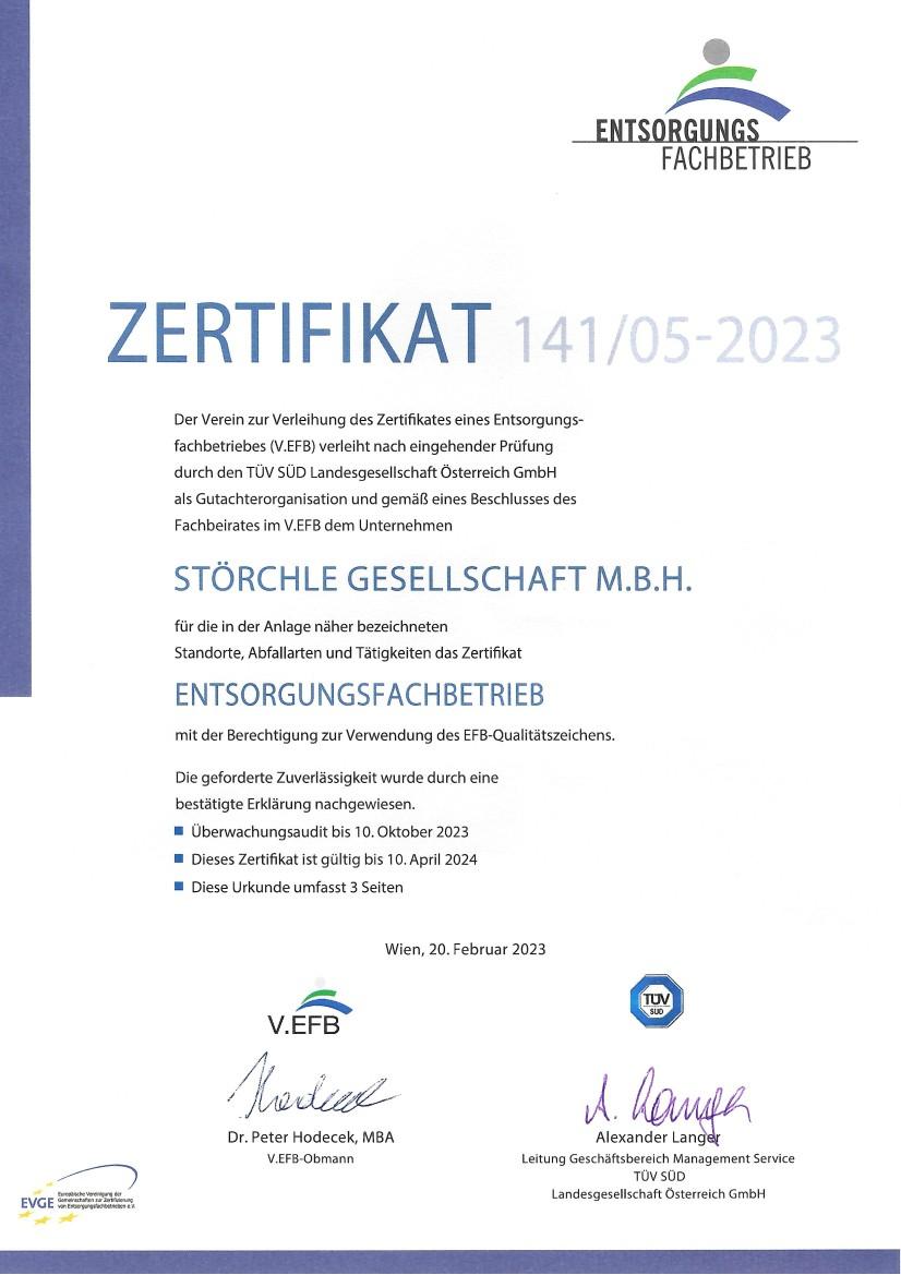 Awards Zertifikate Störchle